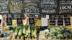 Thinking we bring chalk signs into the mix to add some of the Louisiana influence in and tie it in with the store signage. Store Signage, Retail Signage, Corporate Design, Retail Design, Supermarket Design, Supermarket Sweep, Visual Merchandising Displays, Restaurants, Signage Design
