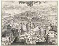Gezicht op het koninklijk jachtpaleis in Turijn, Romeyn de Hooghe (possibly), 1681 - 1682