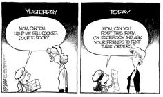 Girl Scout Cookie Sales political cartoons