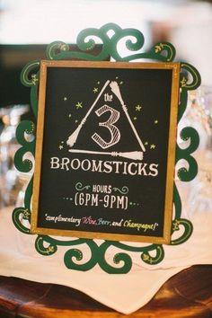 A 3 Broomsticks sign to display at the bar