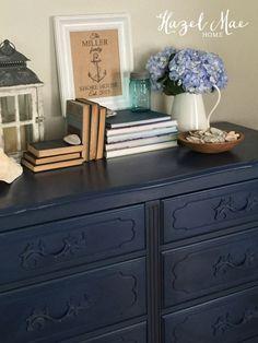 Annie Sloan Napoleonic Blue Dresser {by Hazel Mae Home}