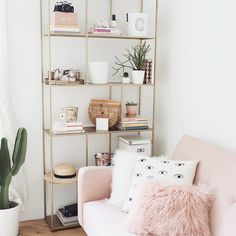 Light and airy blush living room