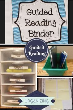 Everything you need to get guided reading organized in your classroom!