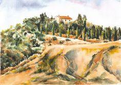 """Saatchi Online Artist Maga Fabler; Painting, """"Crete Senesi Hills (sold)"""" #art"""
