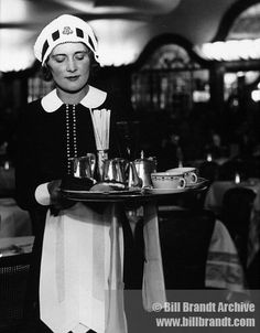 """The famous Lyons Tea House waitress, known as a """"Nippy."""""""