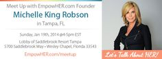 Come meet up with me in Tampa on Sunday 1/19! I'd love to meet YOU!