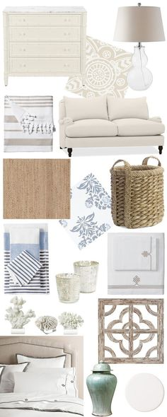 Coastal Decor, white, wicker, simplistic, furniture, home decor #CoastalDecor