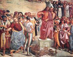 Luca signorelli, cappella di san brizio, predica e punizione dell'anticristo 04 - Cappella di San Brizio -