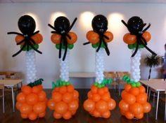 Balloon Halloween spider column