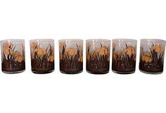 1970s Bar Glasses, Set of 6 $70