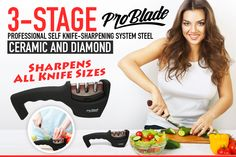 Bring your dullest knives back to life with the all in one Pro Blade sharpening solution!