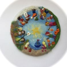 Seasonable circle, Picture,tapestry,Wall hanging,Wet felted,Needle Felted.Wool painting. Waldorf by FilzArts on Etsy https://www.etsy.com/listing/246237770/seasonable-circle-picturetapestrywall