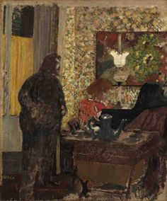 Cipa listening to Misia at the piano, 1896-97, by Édouard Vuillard (French, 1868-1940)