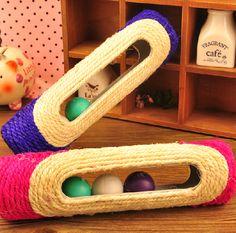 Pet Cat scratch board cat toy pet supplies cat rack  Sisal roller ring ball tease catstoy