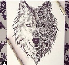 cute tattoo ideas for couples to bond together tattoo designs - mandala wolf drawing