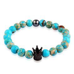 "Our Top selling Bracelet "" Royal Buddha Turquoise Bracelet-Black Crown"" via poshmenclub.com⚜️ https://poshmenclub.com/products/royal-buddha-turquoise-bracelet-black-crown?variant=30664764305"