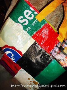 Anleitung für eine Einkaufstasche aus Plastiksackerl