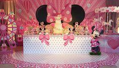 Ver esta foto do Instagram de @lalapetit • 92 curtidas Minnie Mouse Birthday Decorations, Minnie Mouse Birthday Outfit, Minnie Mouse Theme, Mickey Birthday, Baby 1st Birthday, Unicorn Birthday Parties, Birthday Party Themes, Mouse Parties, Mousse