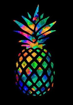 Rainbow Pineapple Background