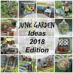 Junk Garden Ideas 2018 Edition - Junk Garden Ideas 2018 Edition The Effective Pictures We Offer You About garden art A quality pict - Rustic Garden Decor, Rustic Gardens, Vintage Garden Decor, Garden Crafts, Garden Projects, Recycled Garden Art, Flea Market Gardening, Diy Vintage, Pot Jardin