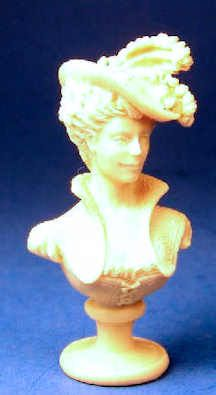"""Jim Pounder -Jene' (gen-nay') from 1997; Made of casting resin; 1 5/8"""" tall"""