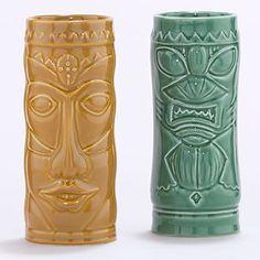 Ceramic Tiki Coolers, Set of 4 | Drinkware| Kitchen & Dining | World Market
