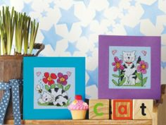 Fun in the Sun Cats, designed by @Rhona Norrie, from Cross-Stitching.com.