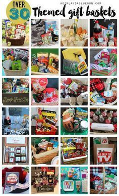 over 30 amazing themed gift basket ideas --something for everyone! baskets Themed gift basket roundup - A girl and a glue gun Teen Gift Baskets, Theme Baskets, Raffle Baskets, Basket Gift, Gift Basket Themes, Family Gift Baskets, Fundraiser Baskets, Jar Gifts, Wine Gifts
