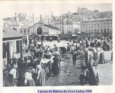 Turn of the century Lisbon market life.