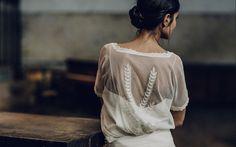 Beautiful bohemian wedding dress from Laure de Sagazan's 2016 collection. Laura Lee, Mode Style, Style Me, Divas, Madame C, French Lace, Designer Wedding Dresses, Classic Looks, Elegant