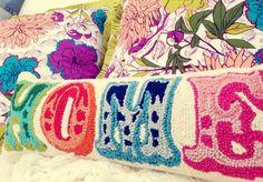 Needlepoint HOMe pillow... Love!