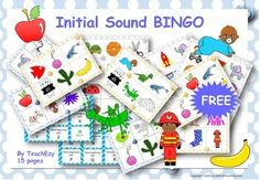 Bingo for initial sounds. Great for initial sounds or initial letter practice. Initial Sounds, Letter Sounds, Phonics Activities, Physical Activities, Sound Free, Beginning Sounds, Phonological Awareness, Word Study, Early Literacy