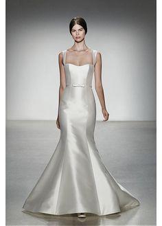 ELEGANT SATIN SQUARE NECKLINE NATURAL WAISTLINE MERMAID WEDDING DRESS SEXY LADY LACE FORMAL PROM BRIDESSMAID GOWN