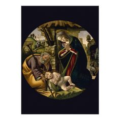 #Adoration of the Christ Child by #Botticelli #Invites