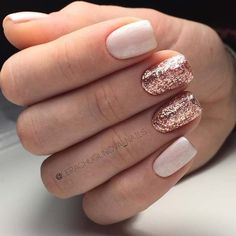 Rose Gold Glitter Nails for Elegant Nail Designs for Short Nails - fiora.pinthouse - - Rose Gold Glitter Nails for Elegant Nail Designs for Short Nails - Orange Nail Designs, Elegant Nail Designs, Short Nail Designs, Elegant Nails, New Years Nail Designs, Wedding Nail Polish, Wedding Nails, Wedding Gold, Wedding Art