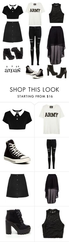 """Random Amas Outfits"" by kyclifford ❤ liked on Polyvore featuring Killstar, NLST, Converse, Miss Selfridge, Abercrombie & Fitch and Steve Madden"