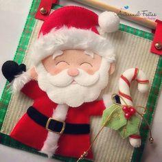 Há o Natal !!!! Estou vivendo o Natal em pleno setembro 😁😁😍 #natal2018 #pecasnatalinas #feltro #instafelt #instafeltrices #instafeltro…
