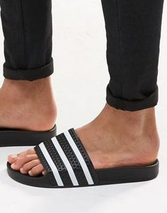 c2eab5ff5 adidas Originals Adilette Sliders In Black 280647 Adidas Slides Outfit
