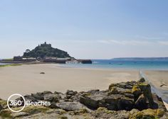 Marazion Beach and St Michael's Mount near Penzance in West Cornwall. To see this beach in and for more beaches in Cornwall click the link :-) Devon England, Cornwall England, Cornwall Beaches, St Michael's Mount, West Cornwall, Travel Uk, Wales, Tropical, Outdoor