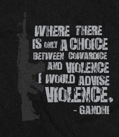 Gandhi on cowardice and violence