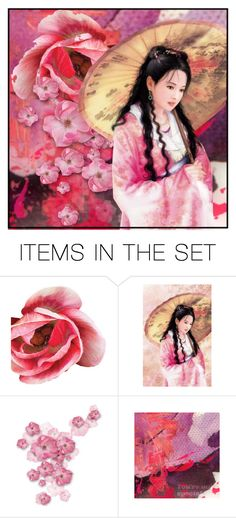 """""""Geisha Portrait"""" by dor-2018 ❤ liked on Polyvore featuring art"""