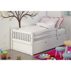 Grayson Daybed with Trundle Color: White - http://delanico.com/daybeds/grayson-daybed-with-trundle-color-white-675010482/