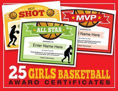 25 Girls Basketball Certificate Templates. Hand out a smile with these cool certificates designed specifically for girls basketball teams. Basketball Practice Plans, Basketball Awards, Basketball Bracket, Street Basketball, Basketball Skills, Basketball Quotes, Basketball Coach, Basketball Players, Girls Basketball