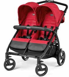 New Peg Perego Book For Two Compact Twin Baby Double Stroller Mod Red The most compact side-by-side stroller We are auth. dealers for Peg Perego so your purcha Double Stroller For Twins, Double Stroller Reviews, Best Double Stroller, Twin Strollers, Double Strollers, Side By Side Stroller, Double Prams, Best Lightweight Stroller, Peg Perego