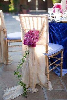 Elegant Wedding Chair Covers | ... Fuchsia & Blue Tabletop - Elizabeth Anne Designs: The Wedding Blog