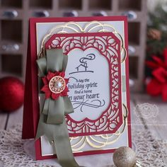 Home in Your Heart with Cannetille Rectangles Card Front Paper Lace, Gold Paper, Christmas 2019, Christmas Cards, Holiday Cards, Becca Feeken Cards, Solid Shapes, Spellbinders Cards, Lace Decor