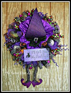 Hey, I found this really awesome Etsy listing at https://www.etsy.com/listing/250589364/halloween-wreath-halloween-witch-wreath