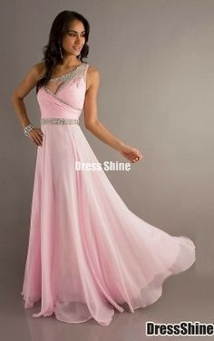 Sexy One-Shoulder Floor-length Chiffon and Sequins Long Prom Dress - Prom Dresses - Special Occasion Dresses - Wedding & Events Evening Dresses 2014, Prom Dress 2014, Chiffon Evening Dresses, Pink Prom Dresses, Prom Dress Shopping, Pageant Dresses, Cheap Prom Dresses, Prom Party Dresses, Occasion Dresses