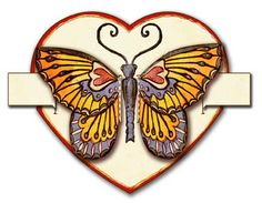"DIY ~ Free Pdf download ~ A Heart Butterfly Card ! Gently pull the tabs to make the butterfly flutter..so very sweet.   ""Happiness is like a butterfly which, when pursued, is always beyond our grasp, but, if you will sit down quietly, may alight upon you.  ~ Nathaniel Hawthorne"