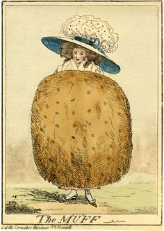 The Muff, Yes Muffs were extremely large but I suspect that the term Muff might have connected to her sexual anatomy too copyright British Museum